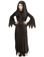 Gothic-Halloween-Kostüm für Mädchen schwarz