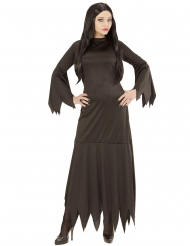 Düsteres Gothic-Kostüm für Damen Halloween-Verkleidung schwarz
