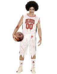 Zombie-Basketballspieler Kostüm für Männer weiss-rot
