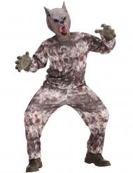 Wildes Werwolf-Kostüm für Kinder Halloween-Kostüm grau
