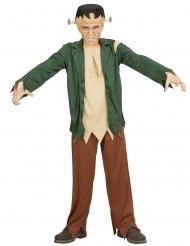Kleines Monster Halloween-Kostüm für Jungen grün-braun