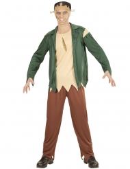 Zombie-Monsterkostüm für Herren Halloween-Verkleidung grün-braun