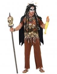 Gefährlicher Voodoo-Priester Herrenkostüm für Halloween braun-schwarz