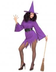 Sexy Hexe Halloween-Kostüm für Damen violett