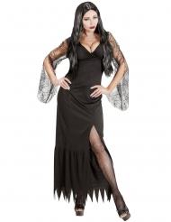 Düstere Gräfin Halloween-Damenkostüm Hexe schwarz