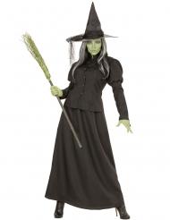 Klassisches Hexenkostüm für Damen Halloween-Verkleidung schwarz