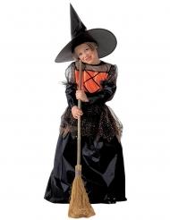 Finsteres Hexenkostüm für Mädchen Halloween-Verkleidung schwarz-orange