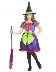 Kunterbuntes Hexenkostüm für Mädchen Halloween-Verkleidung bunt