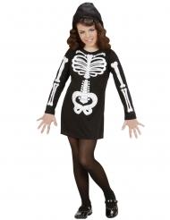 Knochen Skelett-Kostüm für Mädchen Halloween schwarz-weiss