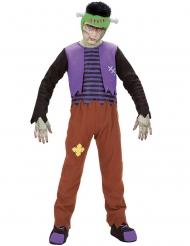 Fieses Monster-Kostüm für Kinder Halloween-Verkleidung bunt