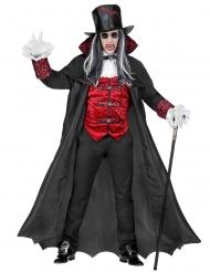 Vampirkostüm-Herren-Verkleidung Guru für Halloween schwarz-rot