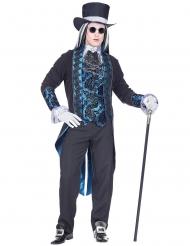 Vampir-Kostüm viktorianische-Verkleidung für Halloween blau-schwarz