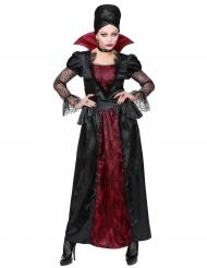 Verführerische Vampir-Dame Halloween-Kostüm schwarz-rot