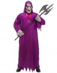 Tödlicher Dämon Halloween-Kostüm für Herren violett-grau