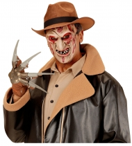 Schaurige Killermaske für Kinder Halloween-Zubehör beigefarben-rot