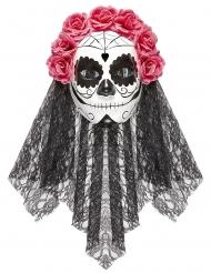 Tag der Toten Maske mit Schleier für Erwachsene