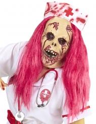 Zombie Krankenschwester Perücke und Maske Halloween