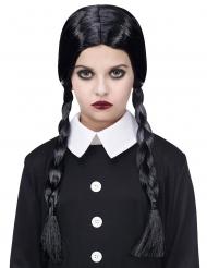 Gothic Schulmädchen Perücke Zöpfe schwarz