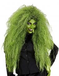 Walpurgisnacht Hexen-Perücke für Damen Accessoire für Halloween grün