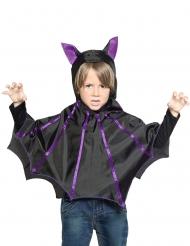 Fledermaus-Poncho Kostümzubehör für Kinder Halloween schwarz-lila