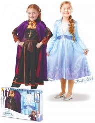 Frozen 2™-Paarkostüm für Kinder Anna & Elsa Kostüm-Set bunt