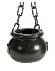 Magischer Hexenkessel Zubehör für Halloween schwarz 12 cm