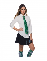 Slytherin™-Krawatte Accessoire für Erwachsene Harry Potter™ grün-silber
