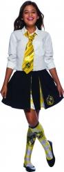Hufflepuff™ Harry Potter Krawatte Kostüm-Accessoire gelb-blau