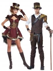 Steampunk-Paar-Kostüm Halloween-Paarkostüm