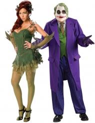 Poison Ivy™ und Joker Dark Knight™ Paar-Kostüm