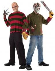 Freddy Krueger™ und Jason™ Horror-Paar-Kostüm Halloween-Paarkostüm