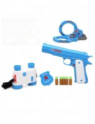 Polizei-Accessoire-Set 5-teilig Kostüm-Zubehör blau-weiss-rot