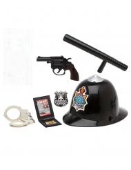 Polizei-Accessoire-Set 6-teilig für Karneval schwarz