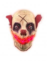 Leuchtmaske-Clown Halloween-Zubehör Maske bunt