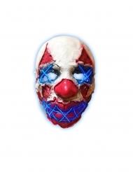 LED-Killerclown Leuchtmaske für Erwachsene Halloween-Zubehör rot-weiss-blau