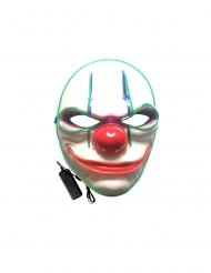 Gruseliger Clown Leuchtmaske für Halloween bunt
