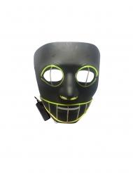 Grinsende Katze LED-Leuchtmaske für Halloween schwarz-grün