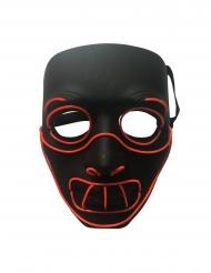 Leuchtende Kannibalen-Maske für Halloween schwarz-rot