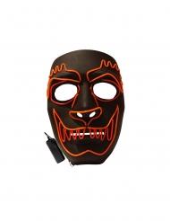 LED-Werwolf-Maske für Erwachsene Halloween schwarz-rot