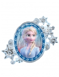 Frozen2™-Folienballon wendbare-Party-Dekoration Elsa und Anna weiss-blau 76x66cm