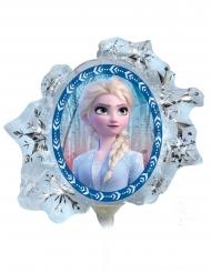 Frozen 2™-Aluminiumballon Raumdekoration Elsa und Anna blau-silber