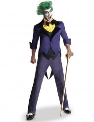 Traditionelles Joker™-Kostüm für Halloween Herrenkostüm violett-gelb-schwarz