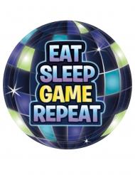 Battle Royale- Pappteller für Videospiel-Partys 8 Stück blau 18 cm