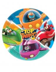 Top Wing™-Pappteller Partyzubehör für Kindergeburtstage 8 Stück bunt 23 cm