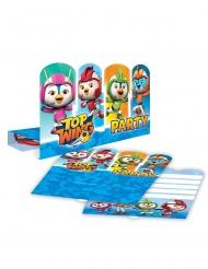Top Wing™-Einladungskarten und Umschläge 8er-Set bunt 16 x 19,5 cm