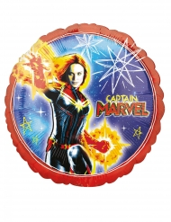 Captain Marvel™ Folienballon rund 43 cm