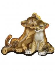 König der Löwen™-Luftballon Nala und Simba Partydeko braun 78x66 cm