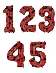 Disney™ Mickey Maus-Ballon Ziffer wählbar Partydeko Rot 66cm