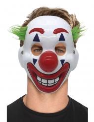 Clownmaske für Erwachsene verrücktes Accessoire Halbmaske bunt