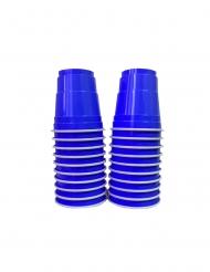 Shooter-Becher Amerikanische Tischdekoration 20 Stück blau 40 ml